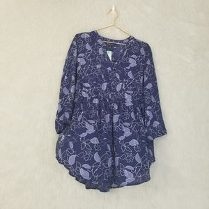 NWT 41 Hawthorne (Stichfix) Baby Doll Poly Blouse